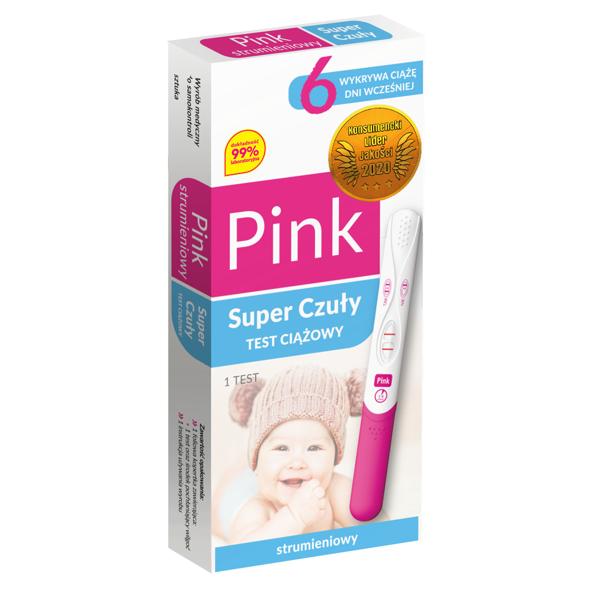 Test Ciążowy Pink Strumieniowy Super Czuły